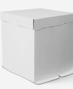 Коробка для торта  белая 50х50х50см, гофрокартон