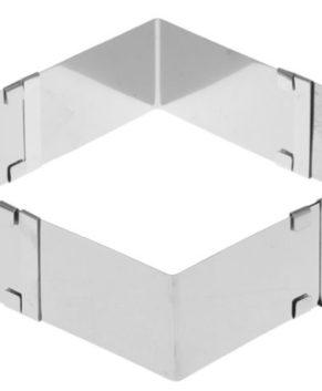 Форма квадратная разъемная 15-28см, H 5см