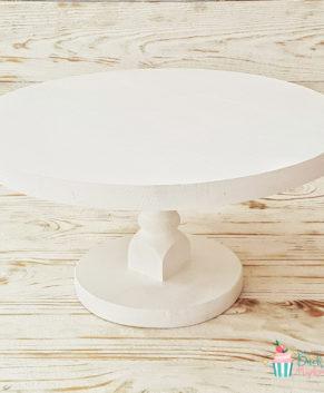 Подставка под торт деревянная, белая