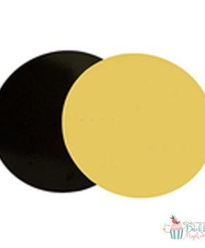 Подложка круглая 28см, черная/золото, толщ.3,2мм