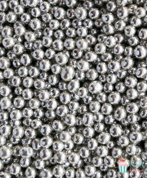Посыпка кондитерская Шарики серебро 4 мм, 25гр