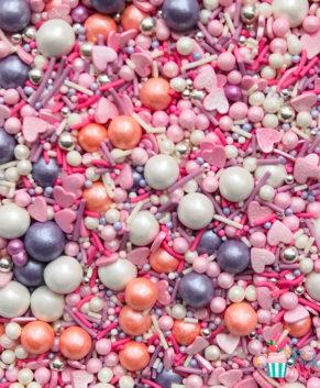 Посыпка кондитерская Микс Розовое сияние, 50гр
