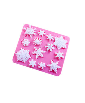 Молд силиконовый Снежинки маленькие