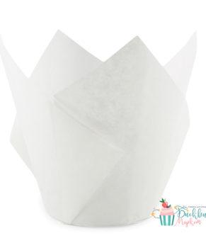 Форма для маффина Тюльпан белая 50х80мм, 20шт