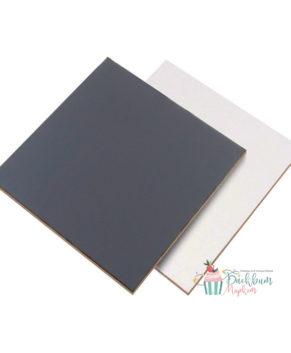Подложка квадратная 30х30см, черная/белая, 2,5мм