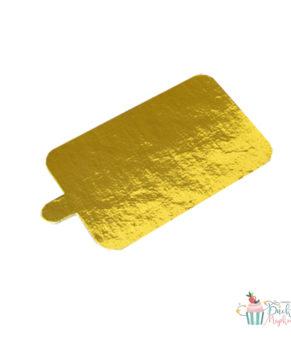 Подложка с держателем 10х6,5см/1,5мм золото/белая