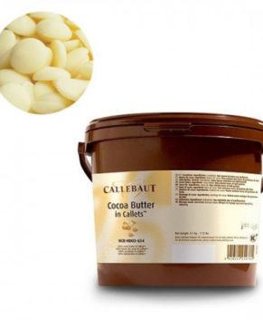 Какао-масло в галетах Cocoa butter Barry Callebaut, 100гр