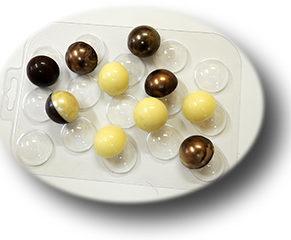 Пластиковая форма для шоколада, Конфеты сферы 30 мм