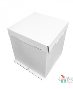 Коробка для торта белая 36х36х36см, гофрокартон