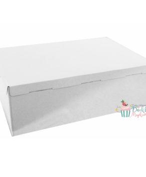 Коробка для торта белая 60х40х21см