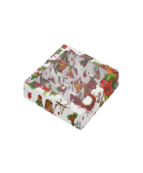 Коробка на 16 конфет с окном, Новый год