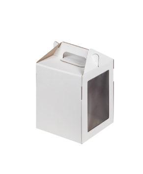 Коробка под пряничный домик и кулич, 16х16х20см