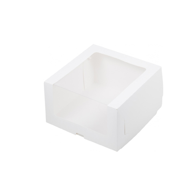 коробка под торт с увеличенным окном