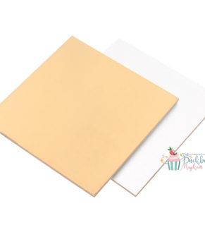 Подложка квадратная 30х30см, золото/белая