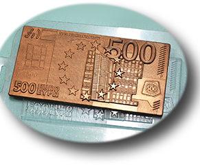 Пластиковая форма для шоколада, Плитка 500 евро