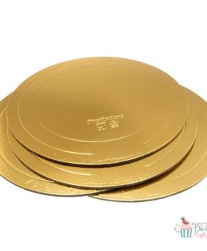 Подложка круглая 38см, золото/жемчуг, толщ.3,2мм