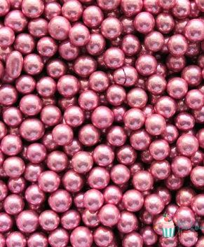 Посыпка кондитерская Шарики  розовые металл 5 мм, 25 гр