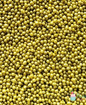 Посыпка кондитерская Шарики  золотые 2 мм, 25 гр