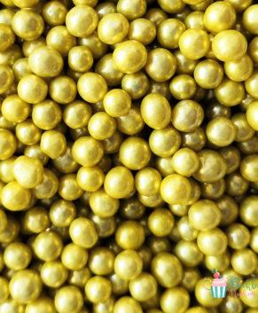 Посыпка кондитерская Шарики золотые 5 мм, 25 гр