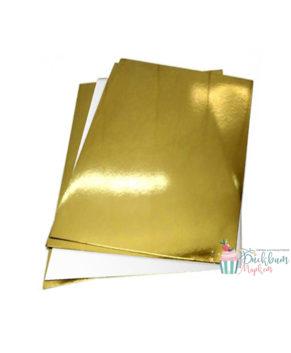 Подложка прямоугольная 30х40см, золото/белая, 3,2мм