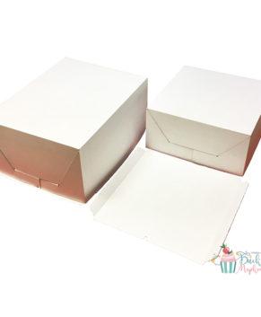 Коробка под торт сборка-конверт 30х40х20см, белая