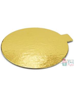 Подложка круглая с держателем 7,5см, золото