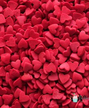 Посыпка кондитерская Сердечки красные, 50гр