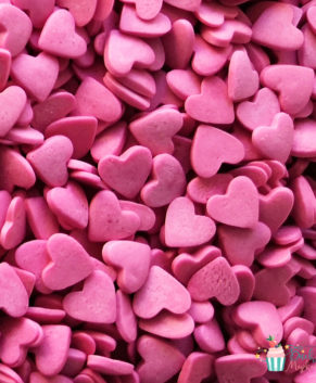 Посыпка кондитерская Сердечки розовые, 50гр