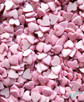Посыпка кондитерская Сердечки розовые перламутровые, 50гр