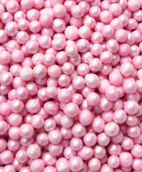 Посыпка Шарики Розовые 4 мм, 50гр