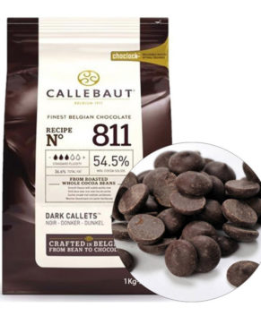 Шоколад темный Barry Callebaut 811 в галетах (54,5% какао)