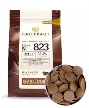 Шоколад молочный Barry Callebaut 823 в галетах (33,6% какао)