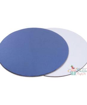 Подложка круглая 28см, синяя/белая, толщ.2,5мм