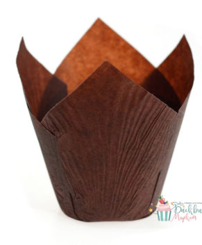 Форма для маффина Тюльпан коричневая 50*80мм, 20шт