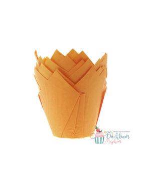 Форма для маффина Тюльпан оранжевая 50*80мм, 20шт
