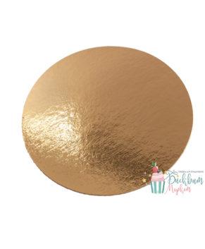 Подложка круглая 16см, золото 0,8мм