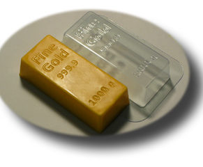 Пластиковая формочка для шоколада, Золотой слиток