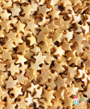 Посыпка кондитерская Звезды золотые перламутровые