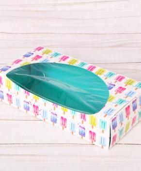 Коробка для кондитерских изделий 10х20х5см, Сладость