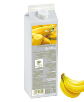 Фруктовое пюре Ravifruit Банан 1 кг (пастеризованное)