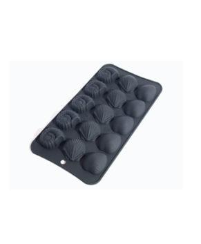 Силиконовая форма для конфет Ракушки, 15 ячеек