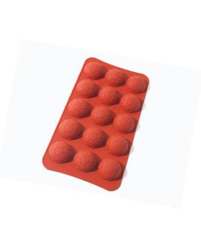 Силиконовая форма для конфет Футбольный мяч, 15 ячеек