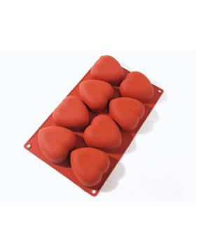 Форма для муссовых десертов Сердечки, 8 ячеек