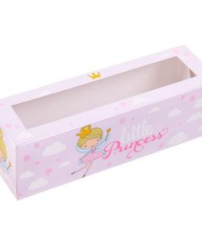 Коробка для макарун 18х5,5х5,5см Принцесса