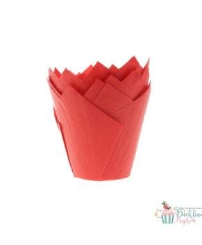Форма для маффина Тюльпан Красная 50*80мм, 20шт