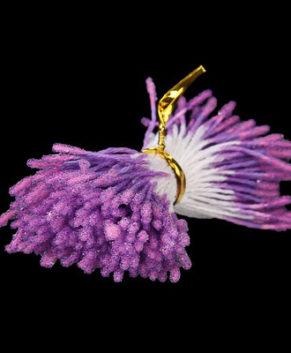 Тычинки для сахарных цветов, пушистые, фиолетовые