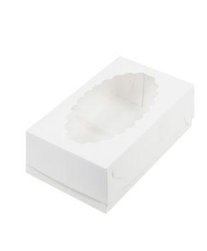 Коробка для эклеров с окном, 24х14х5см