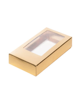 Коробка для шоколадной плитки с окном, золото