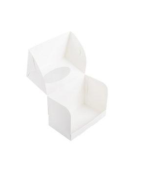 Коробка для капкейков с окном, 2 ячейки, белая