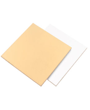 Подложка квадратная 24х24см, золото/белая, 3,2мм